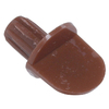 The Hillman Group 2-Pack 1/4-in Brown Round Shelf Pins