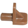 The Hillman Group 8-Pack 5 mm Brown Square Shelf Pins