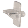 "The Hillman Group 1/4"" Clear Plastic Square Shelf Pin"