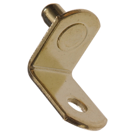 The Hillman Group 20-Pack 5mm Brass-Plated L Shape Shelving Hardware