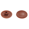 The Hillman Group 10-in x 1/4-in Brown Plastic End Cap