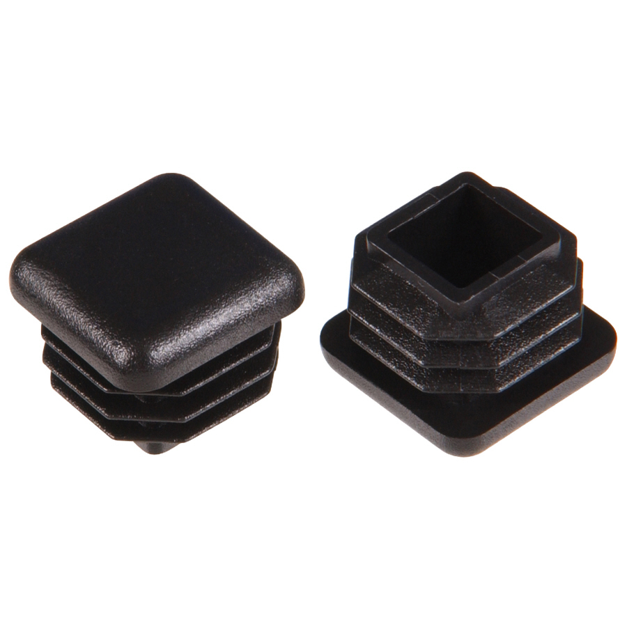 Shop The Hillman Group 2 Pack 7 8 In Black Plastic Inside Furniture Tips At
