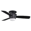allen + roth 44-in Mazon Matte Black Ceiling Fan with Light Kit and Remote