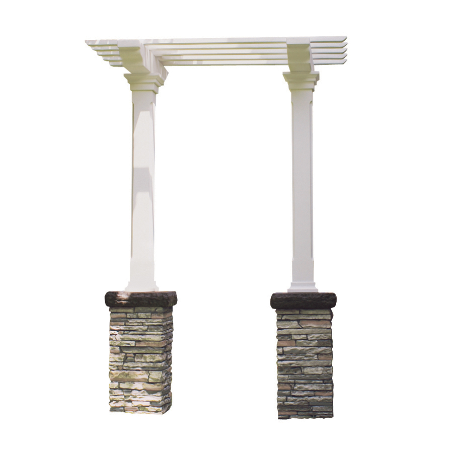 Eyeglass Repair Kit Home Depot : Shop Gray Stacked Stone Design Heritage Arbor Kit at Lowes.com