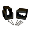 Fiberon 2-Pack Black Flat Rail Angle Brackets