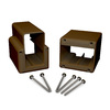Fiberon 2-Pack Brown Flat Rail Angle Brackets