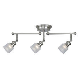 allen + roth 3-Light 23.87-in Brushed Nickel Fixed Track Light Kit