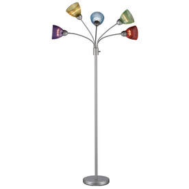 Shop Style Selections 68-in 3-Way Switch Silver Indoor Floor Lamp