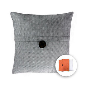 allen + roth 18-in W x 18-in L Pale Blue Square Indoor Decorative Pillow Cover