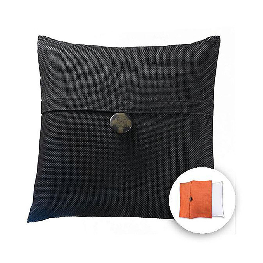 Decorative Pillow Covers Lowes : Shop allen + roth 18-in W x 18-in L Black Square Decorative Pillow Cover at Lowes.com