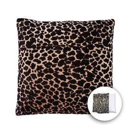 allen + roth 18-in W x 18-in L Brown Giraffe Square Accent Pillow Cover