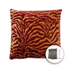 allen + roth 18-in W x 18-in L Zebra Red Square Accent Pillow Cover