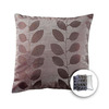 allen + roth 18-in W x 18-in L Coffee Square Accent Pillow Cover