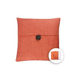 allen + roth 18-in W x 18-in L Orange Square Accent Pillow Cover