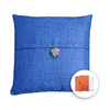 allen + roth 18-in W x 18-in L Navy Square Accent Pillow Cover