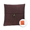 allen + roth 18-in W x 18-in L Coffee Square Indoor Decorative Pillow Cover