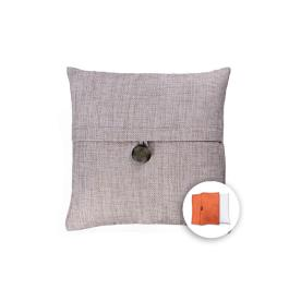 allen + roth 18-in W x 18-in L Khaki Square Accent Pillow Cover