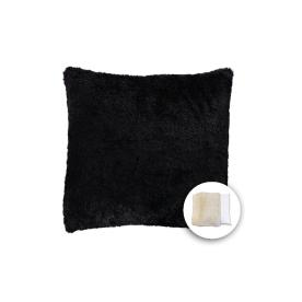 Black Square Accent Pillow Cover