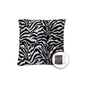 allen + roth 18-in W x 18-in L Zebra White Square Indoor Decorative Pillow Cover