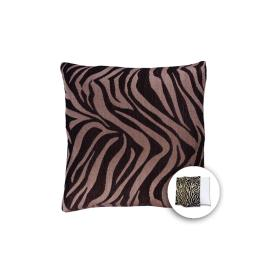 allen + roth 18-in W x 18-in L Zebra Brown Square Indoor Decorative Pillow Cover