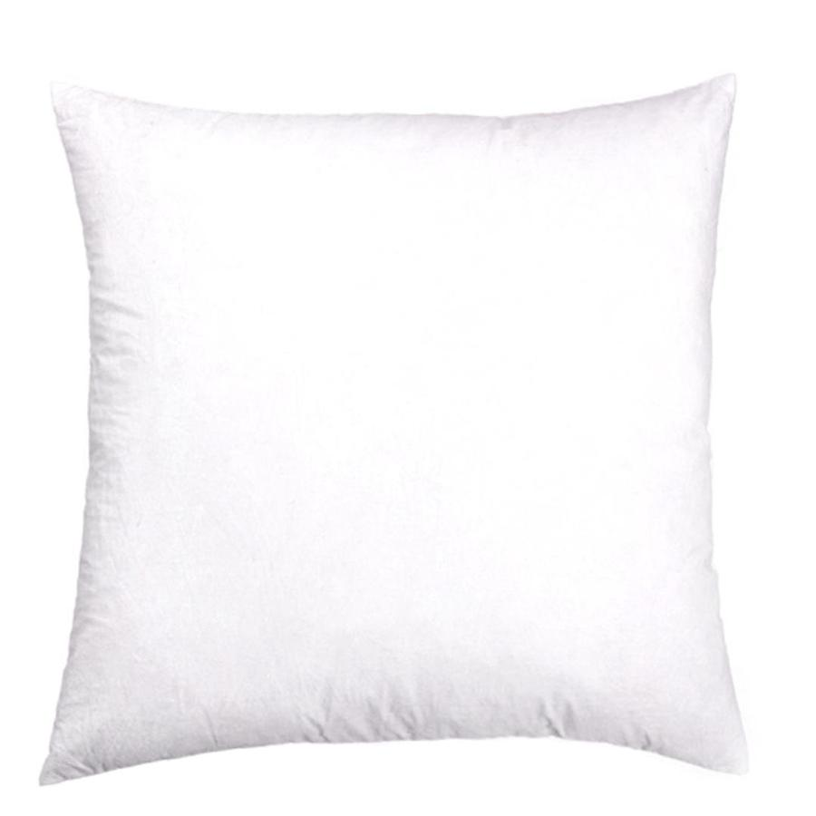 Shop allen + roth 19-in W x 19-in L White Square Decorative Pillow at Lowes.com