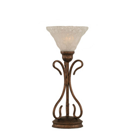 16.75-in Bronze Touch Indoor Table Lamp with Glass Shade