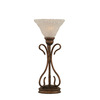  16-3/4-in Bronze Table Lamp with Italian Bubble Glass Shade