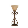  16-3/4-in Bronze Table Lamp with Italian Marbleized Glass Shade