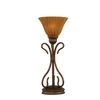  16-3/4-in Bronze Table Lamp with Tiger Glass Shade