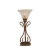  16-3/4-in Bronze Table Lamp with Frosted Crystal Glass Shade