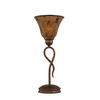  13-1/4-in Bronze Table Lamp with Penshell Tiffany Style Shade