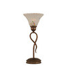  13-1/4-in Bronze Table Lamp with Frosted Crystal Glass Shade