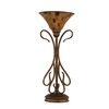 23-1/4-in Bronze Table Lamp with Penshell Tiffany Style Shade