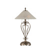 Divina 27-in 3-Way Nickel Indoor Table Lamp with Glass Shade