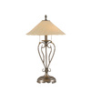 27-in Nickel Table Lamp with White Shade