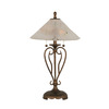 27-in Bronze Table Lamp with Frosted Crystal Glass Shade