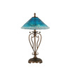 Divina 27-in 3-Way Bronze Indoor Table Lamp with Crystal Shade