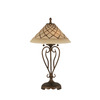 Divina 27-in 3-Way Bronze Indoor Table Lamp with Glass Shade