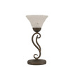  15-1/4-in Bronze Table Lamp with Bubble Glass Shade