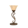 15-1/4-in Bronze Table Lamp with Italian Marbleized Glass Shade