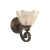 Brooster 8.75-in W 1-Light Bronze Arm Hardwired Wall Sconce