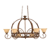 Brooster 32-in W 8-Light Bronze Hardwired Lighted Pot Rack with Tinted Shade