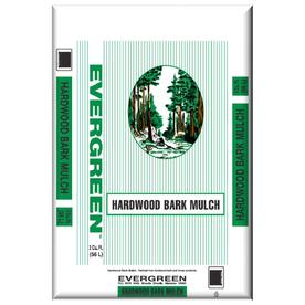 Evergreen 2 cu ft Brown Hardwood Bark Mulch