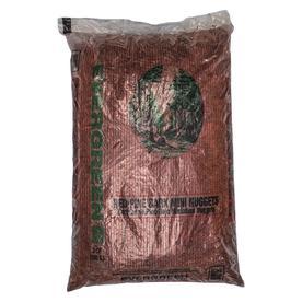 Evergreen 2-cu ft Red Nuggets Pine Bark Mulch