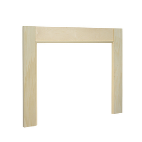 EverTrue 39-in x 39-in Stain Grade Whitewood Basic Mantel Surrounds