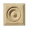 EverTrue 7/8-in x 2-3/4-in x 2-3/4-in Unfinished Pine Rosette Block