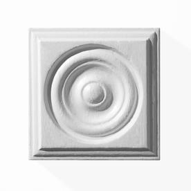 EverTrue 7/8-in x 2-3/4-in x 2-3/4-in Primed Whitewood Rosette Block