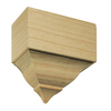 EverTrue 2.625-in x 5.5-in x 5.625-in Unfinished Pine Mid-Crown Moulding Block
