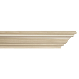 "EverTrue 72"" Paint Grade Whitewood Liberty Fireplace Mantel Shelf"