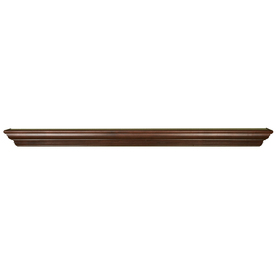 allen + roth 72.0625-in Stain Grade Whitewood Heritage Fireplace Mantel Shelf